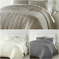 Chezmoi Collection Riley 3-piece Tufted Reversible 100% Soft Cotton Quilt Set