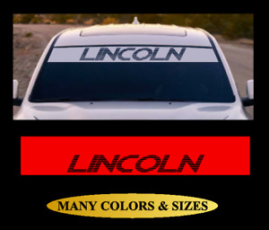 Lincoln Windshield Vinyl Decal Banner Sticker White Black Silver Red for Ford