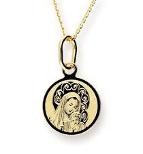 Feine 585 Gold ANHÄNGER Hl. Maria mit Jesuskind Gelbgold 14 Karat Taufe Komunion