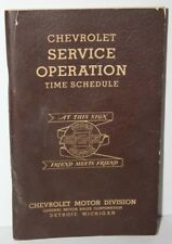 Chevrolet Service Operation Time Schedule Soft Cover Book