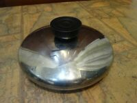 "vintage REVERE WARE stainless replacement lid for 6"" saucepan - 5 3/8"" inner rim"