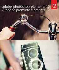 Adobe Photoshop & Premiere Elements 12 Full Version For PC/Mac - Sealed CD