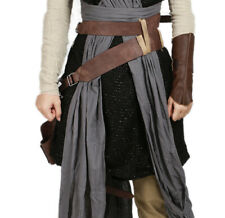 Star Wars Rey Cosplay Belt Holster Brown Leather Costume Props Adjustable Women