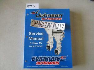 1998 JOHNSON EVINRUDE EC 5 thru 15 4-Stroke Service Manual