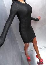UNIQUE SCHWARZ DAMEN BEST KLEID L41 Stretch Perfect Sexy Fit Elegant Top Dress M