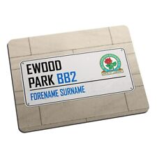 Blackburn Rovers F.C - Personalised Mouse Mat (Street Sign)