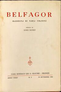 BELFAGOR - ANNO XXXV - N.5 - OLSCHKI 1980