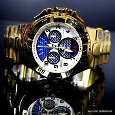 Invicta Reserve Excursion Twisted Metal Steel Swiss Gold Blue Chronograph New