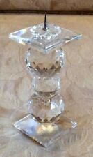 Retired swarovski 5 3/4� Crystal Pin Candleholder