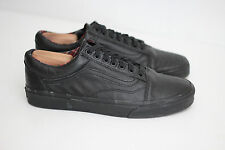 Vans Old Skool MTE All Black Leather Low Top Sneaker Lace Up - Size 10.5 (Y23)