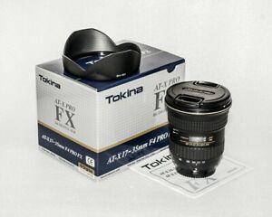 Tokina AT-X 17-35mm PRO FX f4 IF Nikon MINT