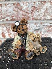 Boyds Bears & Friends Bearstone Figurine Dr. Harrison Griz Md, Phd, Bud #228309
