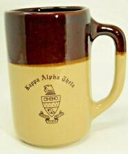 Kappa Alpha Theta KAT Sorority Vintage Coffee Mug Cup Brown Stoneware 20oz