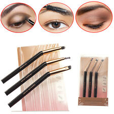 New 3Pcs Angled Eyeliner Brush Eyebrow Eyelash Comb Brush Makeup Beauty Tool