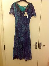 M&S Per Una Embroydered 1/2 Sleeve Long Dress Size: 8