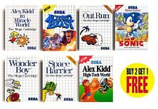 Retro Sega Master System Jeu AFFICHES COLLECTION A3/A4 Imprimer Fan Art