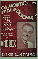 Partition alt partitur sheet music = Andrex - Ca monte et ça r'descent