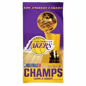 """LOS ANGELES LAKERS 2020 NBA FINALS CHAMPIONS BEACH TOWEL 30""""X60"""" HIGH QUALITY"""