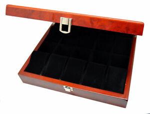 Sammelbox für 10 Uhren Aufbewahrungsbox Ambonia Uhrenbox 8-fach lackiert NEU