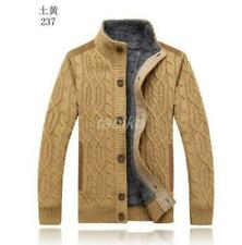 Chic  Mens Knited Thick Cardigan Sweaters Military Combat Jacket Outerwear Coat