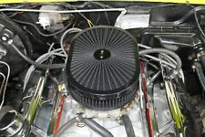 """12""""* 2"""" ANODIZED WASHABLE FILTER FLOW AIR CLEANER BLACK"""