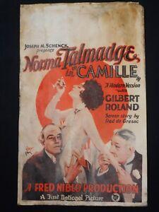 CAMILLE 1926 * NORMA TALMADGE * GILBERT ROLAND * RARE MOVIE POSTER * L@@K!!