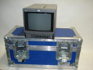 "Sony PVM-8041Q 8""  RETRO Trinitron Gaming Monitor W heavy duty shipping case"