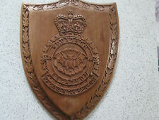 RCAF 440 Squadron Wooden Shield Crest Military Plaque Hand Carved Solid Teak