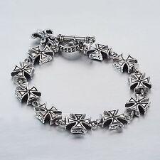 Stainless Steel Bracelet silver chain Celtic cross Sydney stock