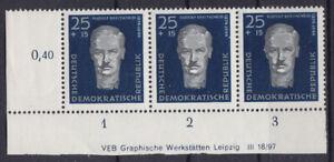 Briefmarken DDR Mi Nr. 607 R. Breitscheid Druckvermerk DV GWL **