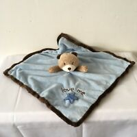 Carters Blue Teddy Bear Baby Comforter Rattle Soother Blankie Doudou Soft Toy