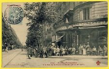 cpa Rare PARIS CAFÉ des INDUSTRIELS Avenue PARMENTIER Rue de la FONTAINE au ROI