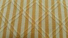 "Waverly Diamonte antique gold stripe diamond pattern fabric 55"" width 6yds BTY"