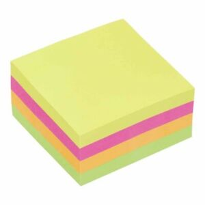 Post It Sticky Notes Removable Self Adhesive 76mm Neon Colours Paper Memo Pad✅