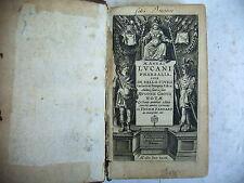 LVCANI pharsalia vers 1600/1700 ancienne notation romaine