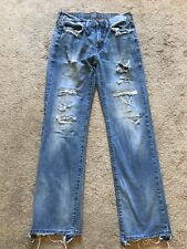GUC Men's Destroyed AMERICAN EAGLE Jeans Size 29 X 32 ORIGINAL STRAIGHT