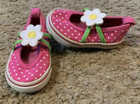 Girls Toddler Gymboree Pink Polka Dot Canvas Mary Jane Shoes Size 3