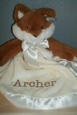 Fox Woodland Animal Snuggler Personalized Security Blanket Baby Blankie
