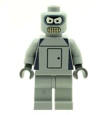 Custom Minifigure Bender (Robot) From Futurama (No Aerial) Printed on LEGO Parts