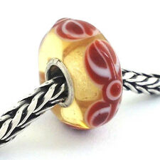 Authentic Trollbeads Ooak Universal Unique Murano Glass Bead Charm Fits Most