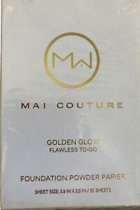 Mai Couture Skin Care Makeup Lightly Powdered Foundation Face Glow Paper x50
