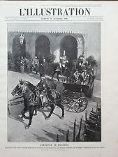L' ILLUSTRATION 1909 N 3479  LE TSAR NICOLA II ARRIVE  A L'ENTREVUE DE RACCONIGI