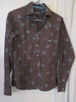 Rough Stock S Womens Panhandle slim Shirt western rodeo pearl snap long sleeve