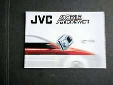 Original JVC Mobile Entertainment Katalog 2002