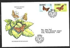 BAHAMAS 1983 FIRST DAY COVER, LOCAL BUTTERFLIES