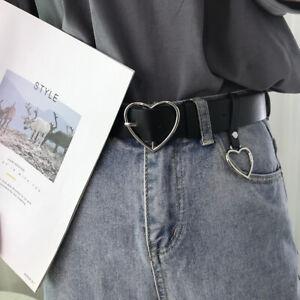 Love Heart Belt Faux Leather Belt with Love Heart Buckle