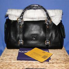 Dooney & Bourke Florentine Leather Med Black Satchel Handbag