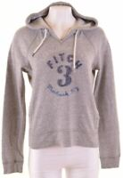 ABERCROMBIE & FITCH Womens Hoodie Jumper Size 16 Large Grey Cotton  FM16