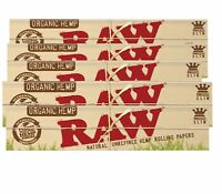 10 Packs Raw Organic King Size Slim Natural Unrefined Rolling Papers Free Ship