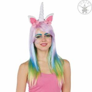 Rubies 4150575 Einhorn Haarreif mit Ohren, Horn und rosa Rosen